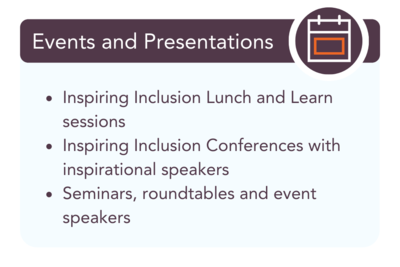 Outsource UK Inclusion & Diversity Events Presentations Workshops - taking care of everything, for everyone
