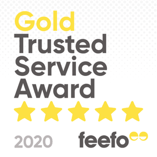 Gold Trusted Service Award 2020 logo