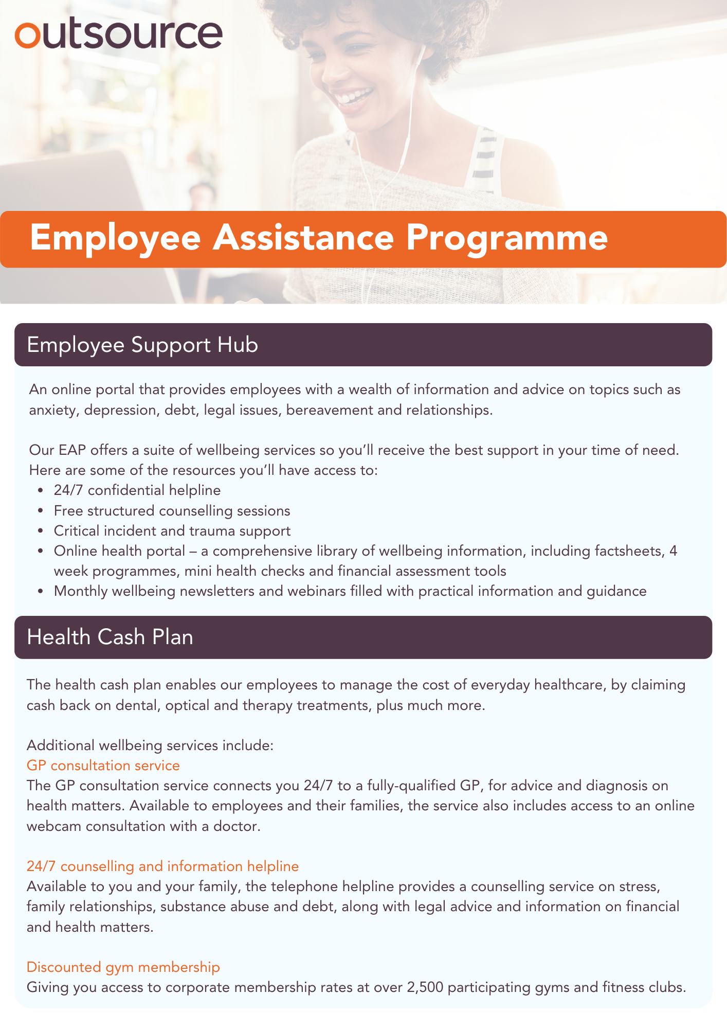 Outsource UK Employee Assistance Programme